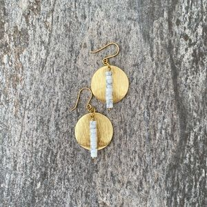 ✨2 for $20!!✨Brass and Stone Earrings